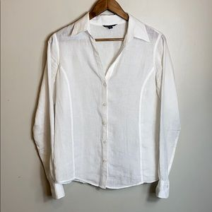 Brooks Brothers Women's 100% Linen button down top